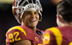 December 27, 2014 - USC Trojans long snapper Zach Smith (92) smiles during the Holiday Bowl game between Nebraska Cornhusk...