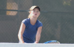 Menlo sophomore Addie Ahlstrom paced the Knights with a comeback victory at No. 1 singles.