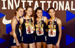The Knights sprint medley team shattered records at Arcadia Invitational.