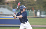 Charlie Giesler doubled for the Knights against Sacred Heart Prep