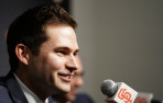 Scott Harris, a 2005 Menlo School graduate, was introduced as GM of the San Francisco Giants on N...