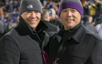 Menlo lacrosse coaches Blake and Cort Kim (Albany '92) were honored Friday night as selections to the University of Albany...