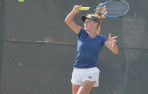 Menlo sophomore Addie Ahlstrom led a Knights singles sweep Tuesday at home.