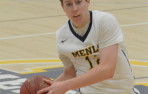 Menlo junior Thomas Brown made 7 of 8 shots from the field, including three three-pointers, to pace the Knights with 22 po...