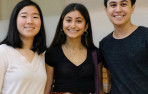 2018 HAND Foundation Fellows May Li '20, Watler Li '19, and Kayla Zamanian '19