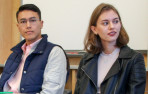 Young alumni from Menlo School speak about their experiences in the Arts. Photo by Pete Zivkov.