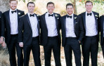 Groomsmen join Peter Tight '04 at his wedding