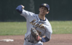 Menlo sophomore Kevin Alarcon struck out five, walked one in a complete-game victory over Menlo-Atherton.
