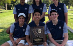 Clockwise, from top left: Menlo School's Kripa Dharan, Jeremy Run, Seth Pope, John Weingart, Max Ting, Charlie Hsieh