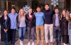 Menlo School alumni return to campus to speak with students about their college experience. Photo...