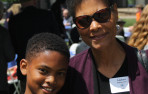 Seventh grader Ty Richardson with his grandmother, Andrea Patterson, at Menlo Grandparents' Day on May 4, 2018