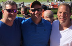 (Left to right) Scott Barkley '88, Jim Hoppe '88, and Bret Sokoloff '88 met at thi...