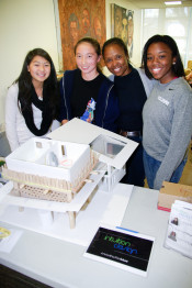 Joanie Banks-Hunt (second from right) with engineering students