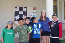 Peninsual Bridge students with their Menlo student teacher