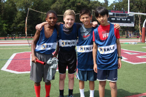 Menlo Middle School students compete in a track meet at Sacred Heart Prep. Photo by Caroline Hamilton.
