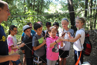 Menlo Middle School 6th grade retreat in the Santa Cruz mountains. Photo by Marisa LaValette.