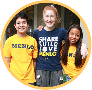 Menlo Middle School students