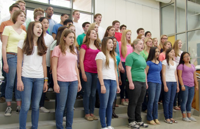 Menlo School's Chorus performs the Annual Pops and Broadway Revue. Photo by Pete Zivkov.
