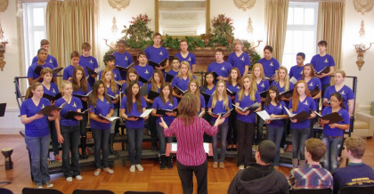 Menlo School's chorus performs. Photo by Pete Zivkov.