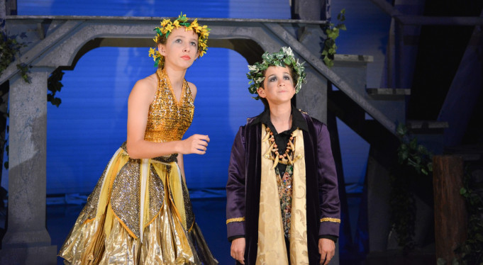 Menlo Middle School's stage production of Midsummer Night's Dream. Photo by Jennie Bernheim.