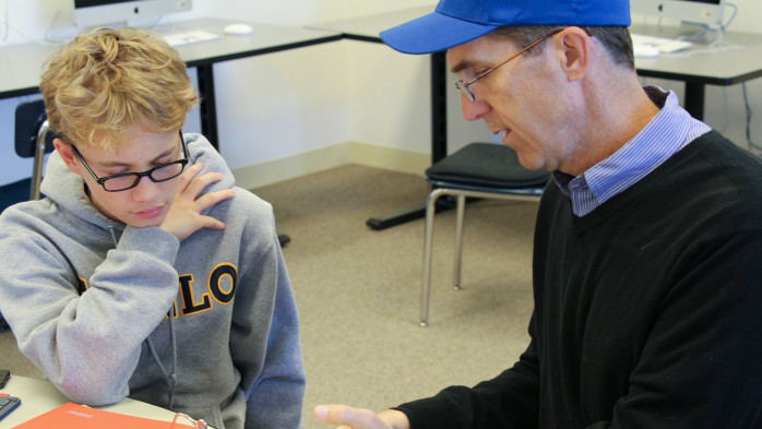 Students get support at Menlo's Learning Lab.