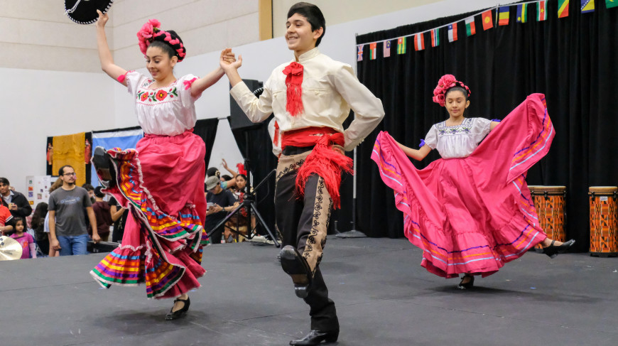 Menlo School hosts Global Expo 2019, a celebration of cultural diversity. Photo by Pete Zivkov.