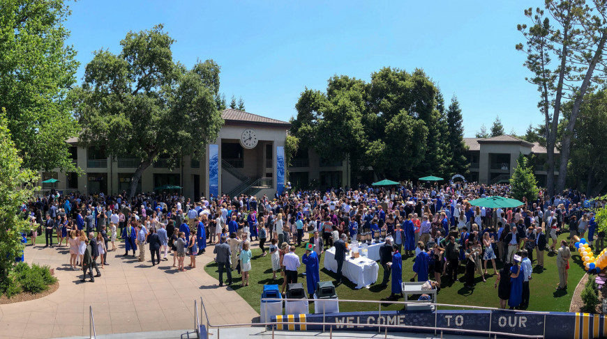 Menlo School celebrates commencement of the Class of 2018. Photo by Tripp Robbins.
