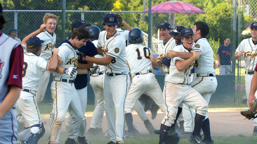 The 2006 Menlo baseball team celebrates