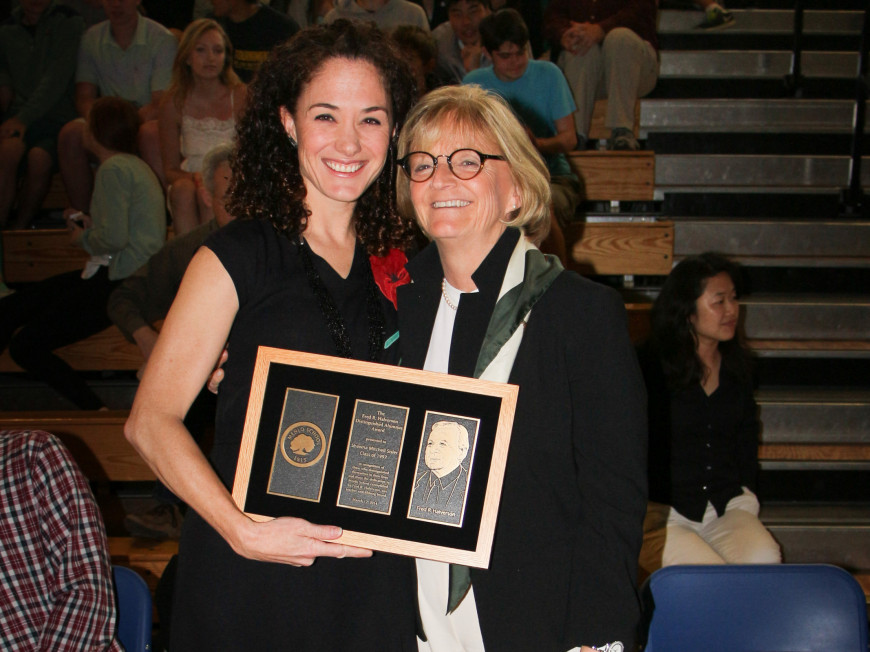 Shawna Mitchell Sisler '97 receives Menlo School's Fred R. Halverson Distinguished Alumnus Award